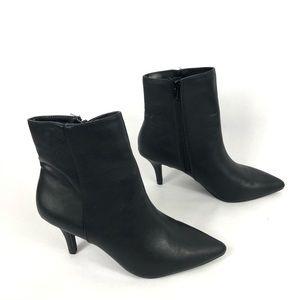 Charlotte Russe Ellie Black Pointed Toe Booties